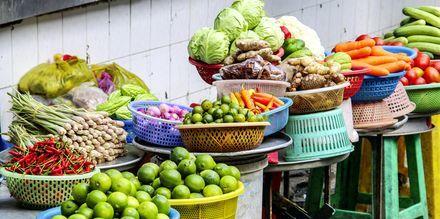 Fruktmarkedet i Ho Chi Minh-byen