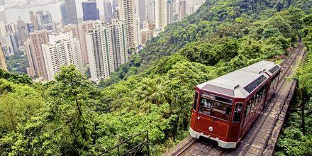 Ta banen opp til Victoria Peak, et fantastisk utsiktspunkt i Hong Kong.