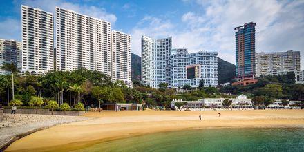 Stranden i Repulse Bay, Hong Kong.