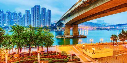 Området Riverside i Hong Kong.