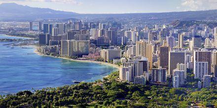Honolulu er både Hawaiis største by, og hovedstad.