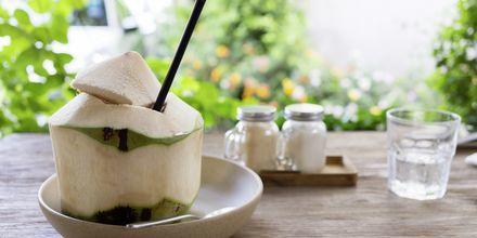 Kokosvann er deilig i varmen
