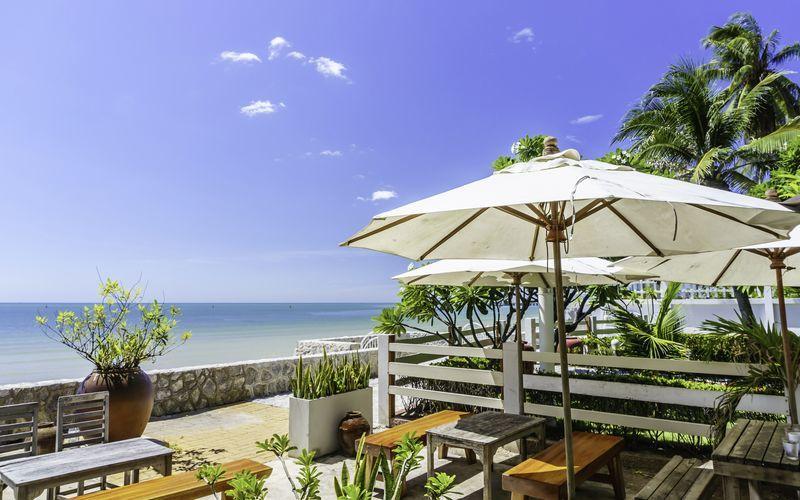Stranden i Hua Hin