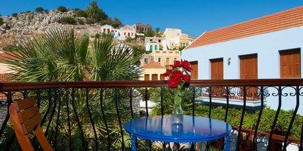 Utsikt fra balkongen – Iapetos Village på Symi