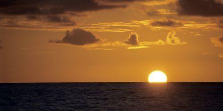 Solnedgang på La Réunion