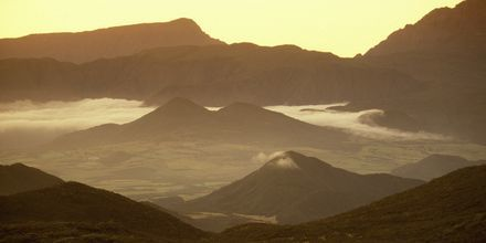 Spennende og frodig landskap på La Réunion.