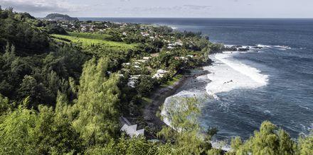 Liten landsby på østkysten av La Réunion.