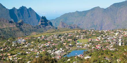 Fjellandsby på La Réunion.