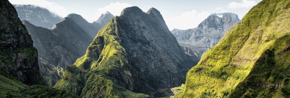 Fantastisk landskap. Her ved Mafate Cirque, La Réunion.
