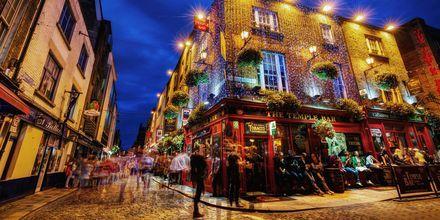 Temple bar er et område i Dublin – fullstappet med puber.