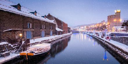 Kanalen Otaru i Hokkaido, nord i Japan. Her er vinteren lang og kald.