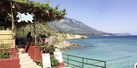 Strandbar i Karavados på Kefalonia, Hellas