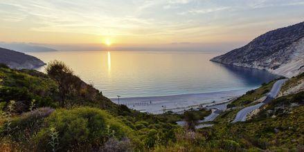 Myrthos Beach i solnedgang