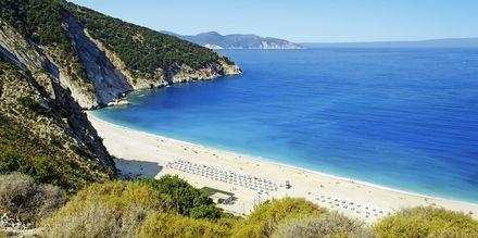 Myrtos Beach på Kefalonia
