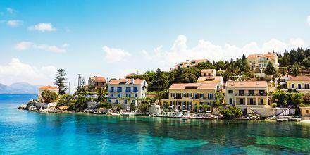 Fiskardo er en av de mest velbevarte stedene på Kefalonia i Hellas.