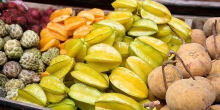 Eksotiske frukt og grønnsaker på Koh Chang