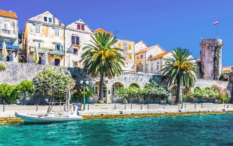 Korčula er en av de grønneste øyene i Adriaterhavet.