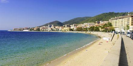 Bystranden i Ajaccio på Korsika