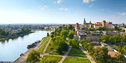 Krakow, Polen sett ovenfra.