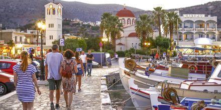 Havnepromenaden i Elounda på Kreta