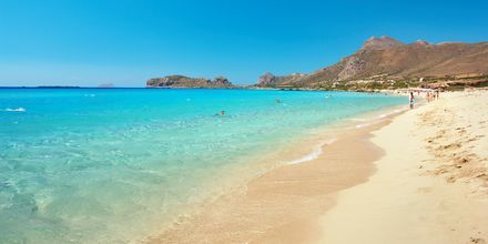 Sandstranden Falassarna er et populært utfluktsmål på Kreta