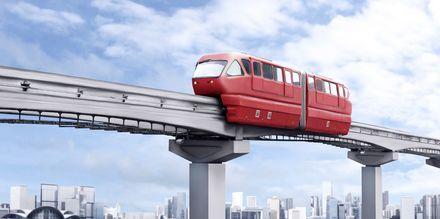 Monorail-toget i Kuala Lumpur. En fin måte å bevege seg rundt på.