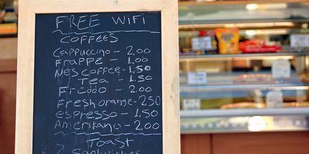Kafé i Laganas