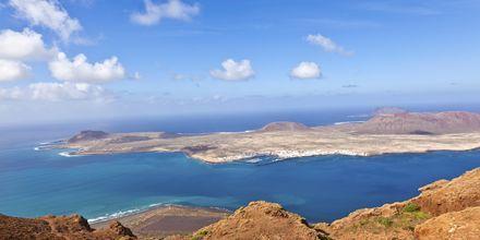 Utsikt til øya La Graciosa