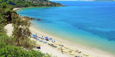 Stranda ved hotellet Mediterranee i Lassi på Kefalonia.