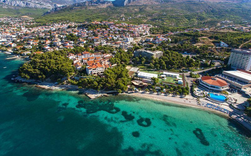 Området ved Lavica Apartments i Split i Kroatia