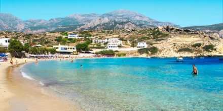 Strand i Lefkos på Karpathos