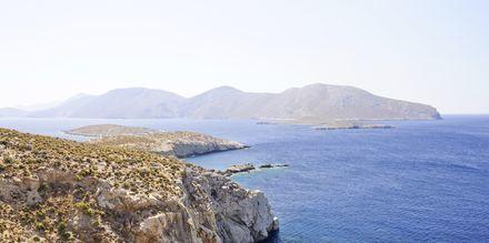 Klipper på Leros nordre del
