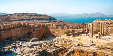 Akropolisklippen, en av Rhodos store kulturelle severdigheter