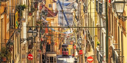 Trikken i Lisboa, Portugal.