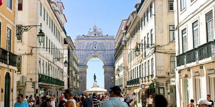 Rua Augusta, en av hovedgatene i Lisboa.