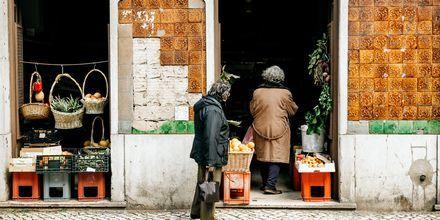En søt butikk i Lisboa, Portugal