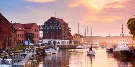 Havnebyen Klaipeda i Litauen.