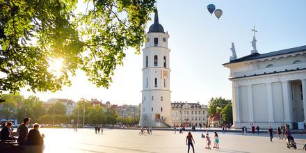 Katedraltorget (Katedros aikštė) i Vilnius gamleby.