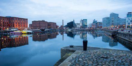 Albert Dock i Liverpool, England.