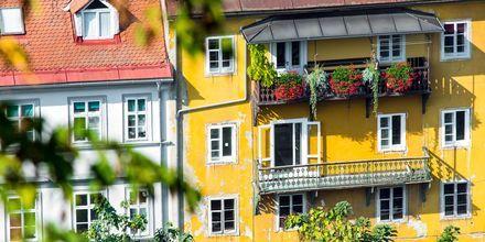 Vakre hus i Ljubljana, Slovenia.