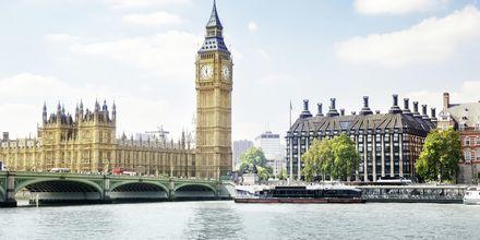 Big Ben og Houses of Parliament i London