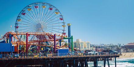 Piren ved Santa Monica med karuseller.