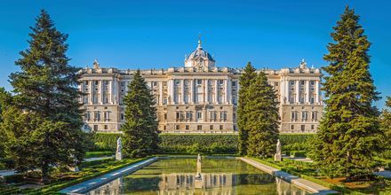 Madrids kongelige slott heter Palacio Real de Madrid og er ett av verdens mest utsmykkede slott.