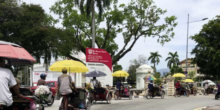 Trishaw – det lokale sykkeltaxisystemet i George Town.