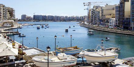 Sliema på Malta er et hyggelig sted for den som liker shopping, avkobling og god mat.