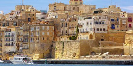 Havnen i Maltas hovedstad Valletta.