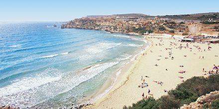 Mellieha-stranden på Malta.