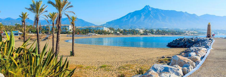 Marbella på Costa del Sol tilbyr herlige dager på stranden.
