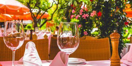 Restaurant i Marbella, Spania.