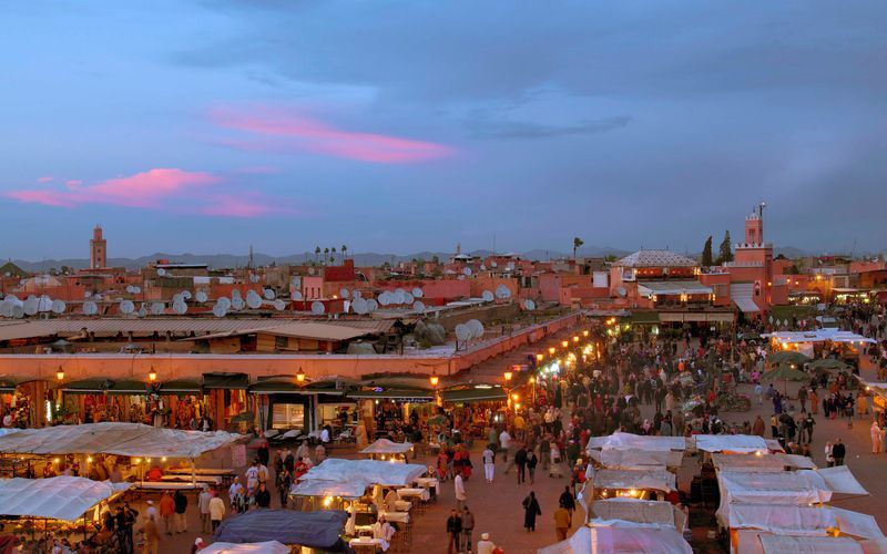 Medinaen i Marrakesh i Marokko